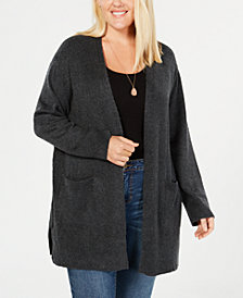 Style & Co Plus Size Open Cardigan, Created for Macy's