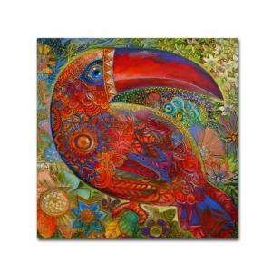 "Oxana Ziaka 'Toucan Deco' Canvas Art - 35"" x 35"" x 2"""