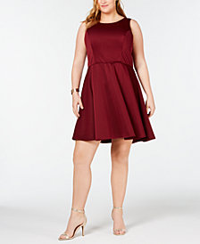 City Studios Trendy Plus Size A-Line Dress