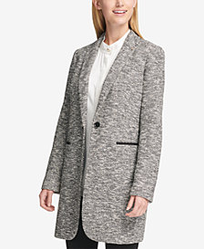 Tommy Hilfiger Marled Patched-Elbow Blazer