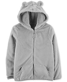 Carter's Little & Big Girls Zip-Up Faux-Sherpa Hoodie