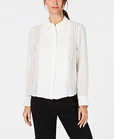 Tommy Hilfiger Shadow-Stripe Blouse
