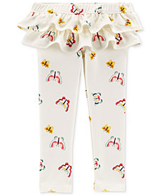 Carter's Toddler Girls Ruffle-Trim Butterfly French Terry Leggings