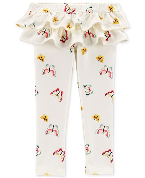 0741049c7081b Carter's Toddler Girls Ruffle-Trim Butterfly French Terry Leggings ...
