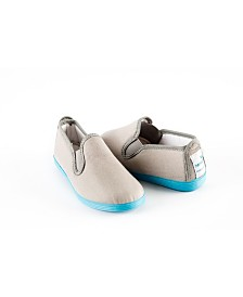 Namoo Grey and Blue Canvas Slip On Shoe