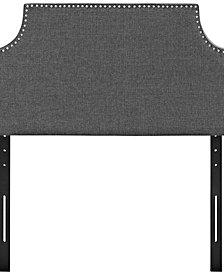 Laura Twin Upholstered Fabric Headboard