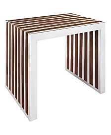 Modway Gridiron Small Wood Inlay Bench