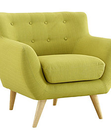 Modway Remark Upholstered Fabric Armchair in Sunny