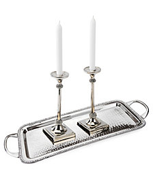 Classic Touch Prism Candle Holder with Diamonds
