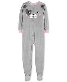 Carter's Little & Big Girls Dog-Face Footed Pajamas
