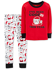 Carter's Toddler Boys 2-Pc. Cotton Goodish Santa Pajama Set