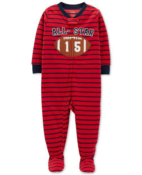 97a5224e5 Carter s Toddler Boys Striped Football Fleece Pajamas - Pajamas ...