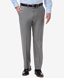 Men's Premium Comfort Stretch Classic-Fit Solid Flat Front Dress Pants