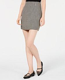 Love, Fire Plaid Mini Skirt