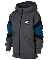 e4ec0c2e8f1 Nike Big Boys Air-Print Colorblocked Zip-UP Hoodie