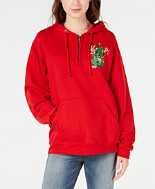 Love Tribe Juniors' Looney Toons Christmas Tree Sweatshirt
