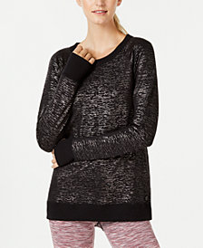 Ideology Metallic Cross-Back Sweatshirt, Created for Macy's