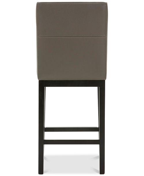 Furniture Tate Leather Parsons Stool 3 Pc Set 3