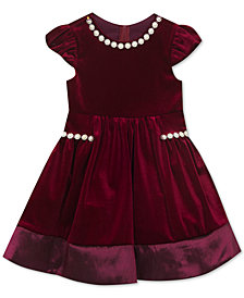 Rare Editions Little Girls Pearl-Trim Party Dress