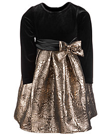 Good Lad Little Girls Velvet Jacquard Party Dress