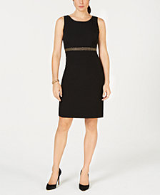 Kasper Embellished Sleeveless Sheath Dress