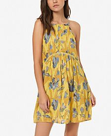 O'Neill Juniors' Floral-Print Crinkle Dress