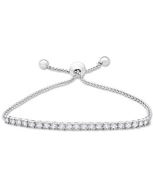 Diamond Bolo Bracelet (1 ct. t.w.) in Sterling Silver