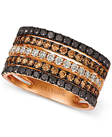 Le Vian® Chocolate Layer Cake™ Blackberry Diamonds®, Chocolate Diamonds® & Nude Diamonds® Statement Ring (1-5/8 ct. t.w.) in 14k Rose Gold