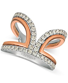 Nude Diamonds™ Two-Tone Statement Ring (3/4 ct. t.w.) in 14k White & Rose Gold