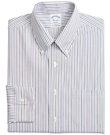 Brooks Brothers Men's Regent Fitted Non-Iron Alternative Stripe Dress Shirt