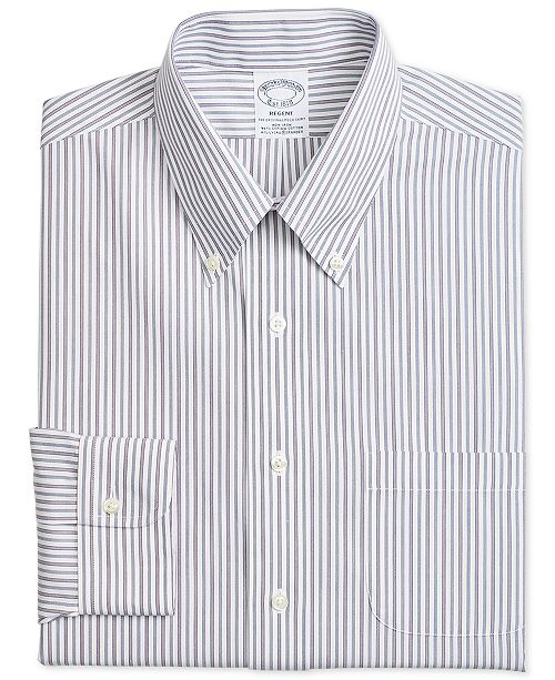 b4766dfd ... Brooks Brothers Men's Regent Fitted Non-Iron Alternative Stripe Dress  ...