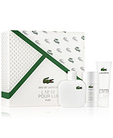 Lacoste Men's 3-Pc. L.12.12 Blanc Gift Set, A $105 Value