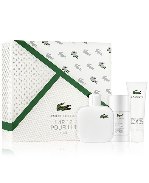 9323476d6a0aa1 Lacoste Men s 3-Pc. L.12.12 Blanc Gift Set   Reviews - All Perfume ...
