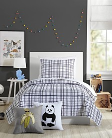 Urban Playground Marquis Charcoal Twin Quilt Set - 2 Piece