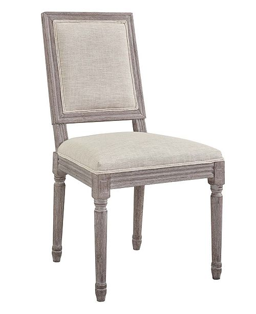 Modway Court Vintage French Upholstered Fabric Dining Side Chair