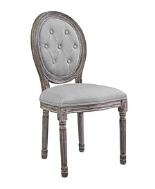 Modway Arise Vintage French Upholstered Fabric Dining Side Chair