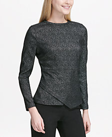 Calvin Klein Asymmetrical Jacquard Top