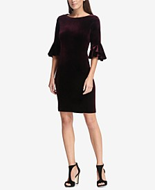 Velvet Bell-Sleeve A-Line Dress, Created for Macy's