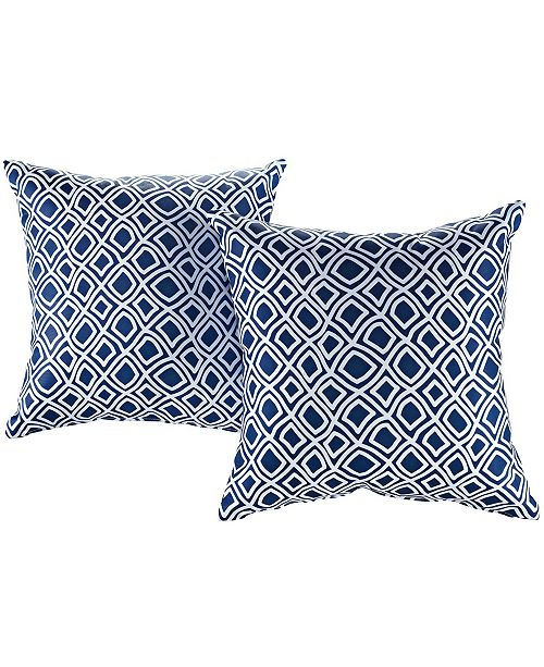 Modway Modway Two Piece Outdoor Patio Pillow Set in Stripe