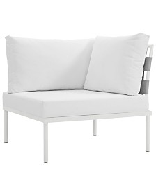Modway Harmony Outdoor Patio Aluminum Corner Sofa White