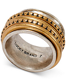 Lucky Brand Two-Tone Textured Stack Ring