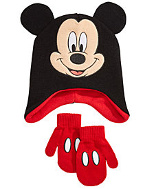 Mickey Mouse Toddler Boys 2-Pc. Hat & Mittens Set
