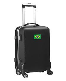"""Mojo Licensing 21"""" Carry-On Hardcase Spinner Luggage - Brazil Flag"""