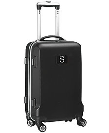 Luggage Carry-On 21-Inch Hardcase Spinner 100% Abs With Letter S