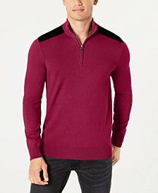 I.N.C. Men's Future Mock-Neck Knit Sweater, Created for Macy's