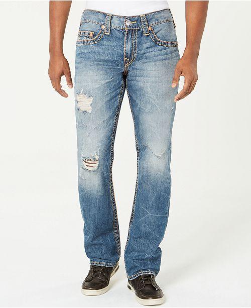 1da49b9ea ... True Religion Men s Straight-Leg Old Multi Wheat Big T Ripped Jeans ...
