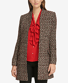 Calvin Klein Petite Tweed Open-Front Jacket