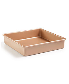 """Martha Stewart Collection Nonstick Champagne 9"""" Square Cake Pan, Created for Macy's"""