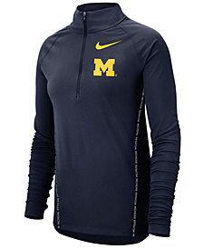 Nike Women's Michigan Wolverines Element Half-Zip Pullover