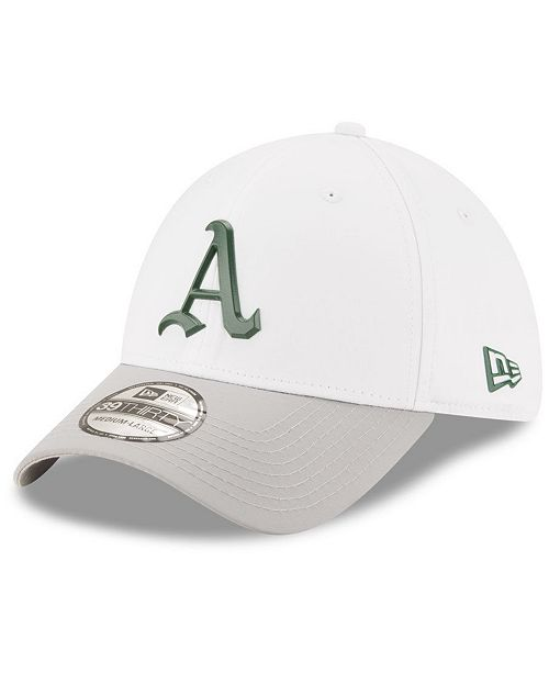 reputable site 5e598 b3bb0 ... New Era Oakland Athletics White Batting Practice 39THIRTY Cap ...
